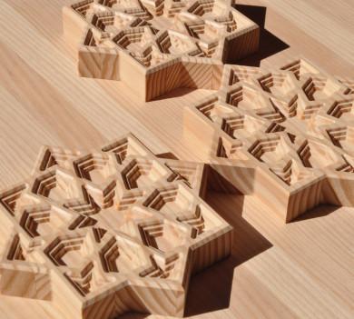 piezas madera artesonados arabescos