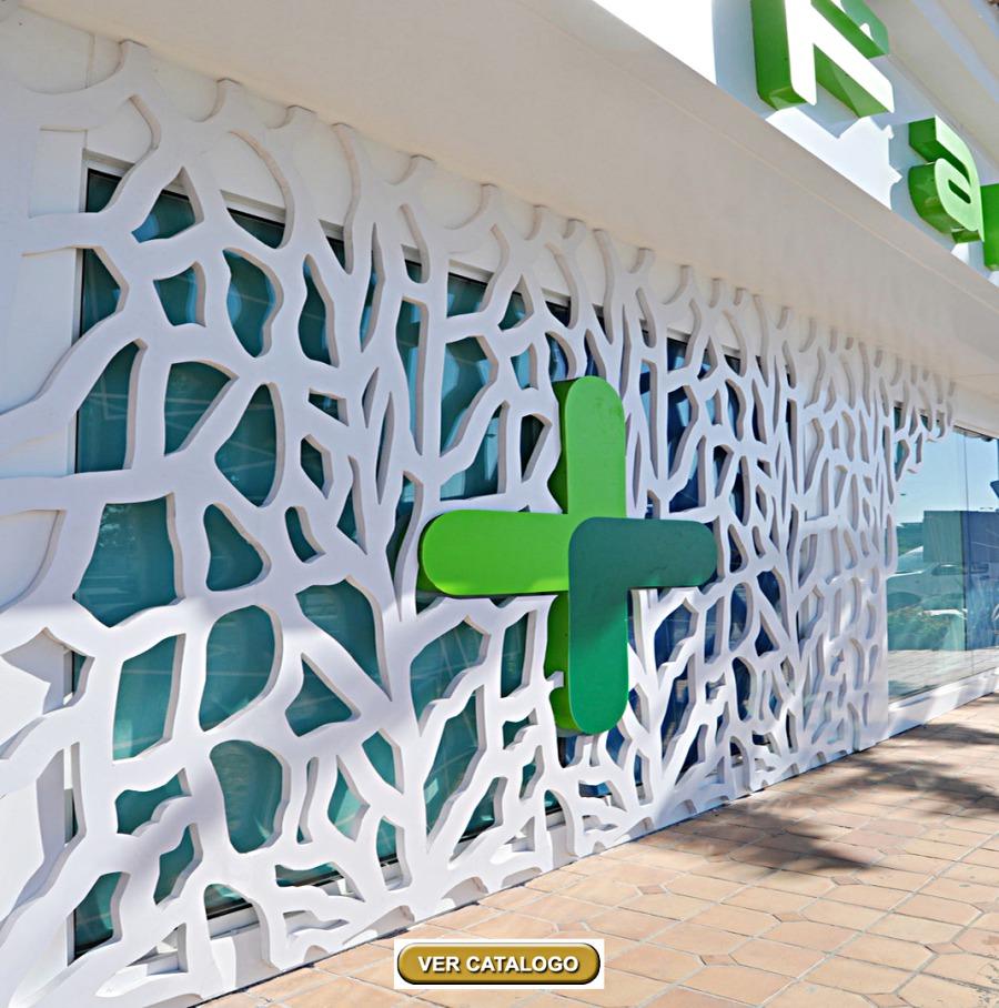 Andaluciart celosias modernas arte en celosia - Paneles decorativos para exterior ...